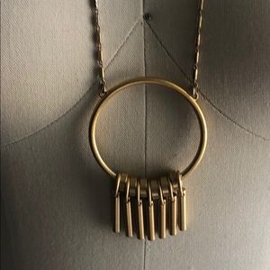 Madewell Jewelry - Madewell brass circle pendant necklace